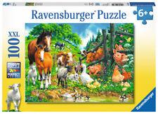 """Ravensburger 10689  """" Versammlung der Tiere """" 100 Teile XXL Puzzle, NEU & OVP"""