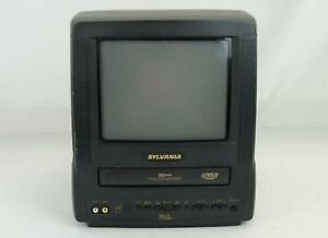 "SYLVANIA 9"" TV/VCR VHS Classic Portable Combo Retro Gaming Model SSC091"