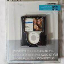 Belkin Leather Sleeve. Case for iPod Nano (Black)