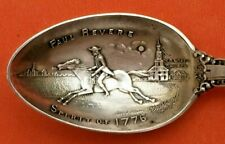 PAUL REVERE RIDING A HORSE BOSTON MASSACHUSETTS STERLING SILVER SOUVENIR SPOON