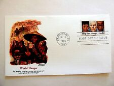 """October 15th, 1985 """"World Hunger"""" First Day Cover"""