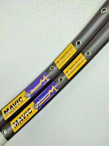 """No reserve NOS Coppia cerchi Mavic GP4 yellow label 36h 700c (28"""") mint nuovi"""