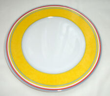 """Gorgeous Villeroy & Boch Switch 1 Plate, Yellow with Colored Stripes, 7"""""""