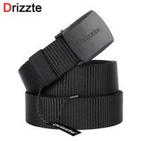 Drizzte Mens Belts for Men Nylon Belt Black Plus Size 39 63'' To 79'' Long Belt