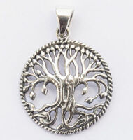 Runa Kleiner Keltischer Lebensbaum Anhänger Silber Gothic Schmuck - NEU