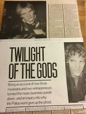 The Police, Two Page Vintage Clipping, Large Format Magazine
