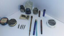 Vintage Dip Nib (180)+ Lot with pens and rare Ink bottles and containers