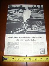 1964 FERRARI ENZO SHELL OIL - ORIGINAL AD