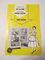 Vintage GENERAL ELECTRIC GE FOOD FREEZER Use & Care OWNERS MANUAL