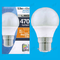 8x 5.5W LED Ultra Low Energy Instant On Pearl Round Golf Light Bulb BC B22 Lamp