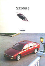 Mazda Xedos 6 2.0 V6 1992-93 Original UK Sales Brochure Pub. No. MCAG883
