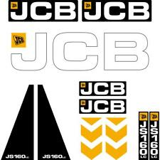 JCB JS160 LC Decals Stickers Kit New Repro Decals Laminated