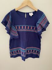 Hayden Girls Navy Blue Blouse size 9/10