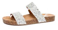 Steve Madden Gad Women's Silver Sandals Sz 9M 2119