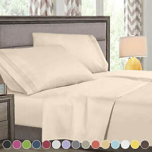 Super Deluxe 1800 Count Hotel Quality 4 Piece Deep Pocket Bed Sheet Set