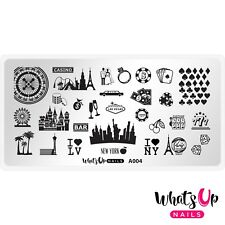 A004 Sin City Life Stamping Plate For Stamped Nail Art Design
