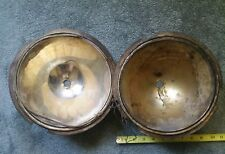 VINTAGE CAR PART LOT OF 2 HEADLAMP BACKS CONES