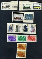 Lot of 33 stamps, Uk, 1975. Scott 736-761 Six Complete Sets