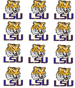 """LSU Tigers Cupcake Toppers Edible Image 2"""" Frosting Circles"""