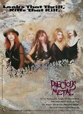 Precious Metal Self-Titled Album Chameleon Records 1990 8x11 Promo Poster Ad