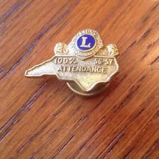 Vintage1956-57 LIONS CLUB Attendance Award Lapel Pin John L. Stickley