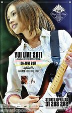 """YUI """"LIVE 2011 HONG KONG HOTEL HOLIDAYS IN THE SUN"""" CONCERT TOUR POSTER-Pop,Rock"""