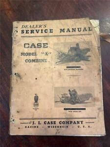 VINTAGE CASE DEALERS SERVICE MANUAL MODEL 'A' COMBINE 04/1948