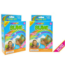 2 x Make Your Own Slime Kit Set Unicorn Colors DIY Play Sensory Kids Clay Toy