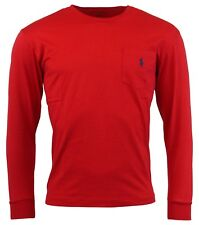 Polo Ralph Lauren Men's Long Sleeve Crewneck Pocket T-Shirt - L - Red