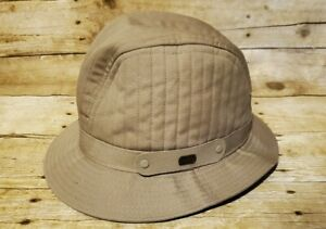 "Vintage Baron's Beige Fedora Safari Hat Size 6 3/4"" - 6 7/8"" Distinct Style EVC"