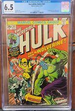 Incredible HULK #181 CGC 6.5 MEGA KEY! 1st Wolverine NO RESERVE