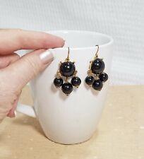 Vintage Black Bubble Style Chandelier Dangle Earrings