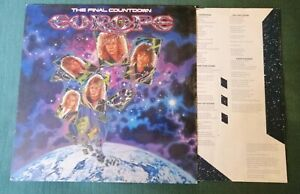 EUROPE : The Final Countdown  LP 33T Embossed Sleeve Holland EPC 26808 Lyrics