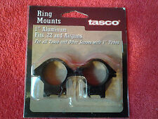 "New Tasco Ring Mounts 1"" Inch Aluminum"