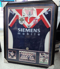#BT. FRAMED & SIGNED 2000 GRANDFINAL  RUGBY LEAGUE ROOSTERS  PLAYER'S  JERSEY