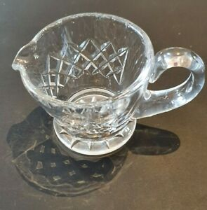 Cute Diamond-Cut Crystal Small Vintage Milk Jug: Enjoy a High Tea for One!