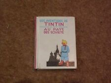Tintin in the Land of the Soviets special mini album signed by Herge - rare.