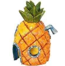 House Hole Fish Tank Aquarium Pineapple Ornament Spongebob Hide Cave YellowUK