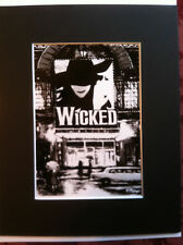 Wicked the musical theatre  print copy NYC Broadway black and white