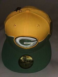 NEW ERA 59 FIFTY NFL GREEN BAY PACKERS DRAFT CITY FLAG FITTED HAT 8 NEW