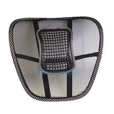 Black Mesh Lumbar Lower Back Brace Support Car Seat Chair Cushion Pad Pillow New