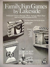 Lakeside Toys PRINT AD - 1967 ~ toy, game ~ Kismet, Spare-Time, Perquackey games