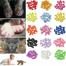 20Pcs Cat Nail Caps Pet Nails Soft Silicone Paw Claw Protector Grooming Supplies