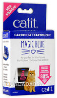 Catit Magic Blue Purifier Cartridges for Litter Boxes Reusable Cartridge &2 Pads