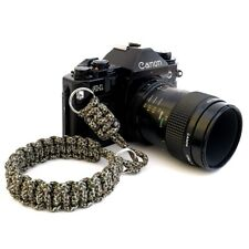CAMERA PARACORD HAND GRIP STRAP CAMOUFLAGE BROWN GREEN DSLR LEICA SONY CANON FUJ