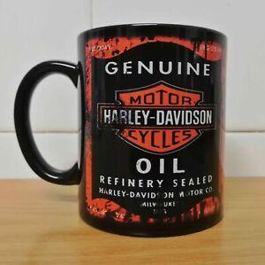 Messy Oil Can Coffee Mug Harley Davidson Black Funny Coffee Cup Gift Men Women