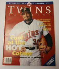 1995 MINNESOTA TWINS VS CLEVELAND INDIANS PROGRAM RARE MLB BASEBALL