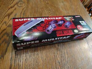 Nintendo SNESSuper Multitap CIB complete in box good excellent condition HC-698