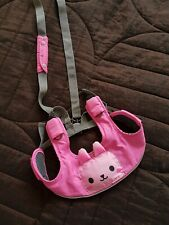 Girls Pink Squeaking Bunny Harness