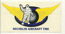 RARE / AUTOCOLLANT - MICHELIN : BIBENDUM AIRCRAFT TIRE TYRE PNEU / STICKERS